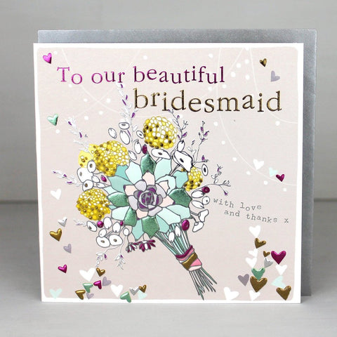 Beautiful Bridesmaid Thank You Card