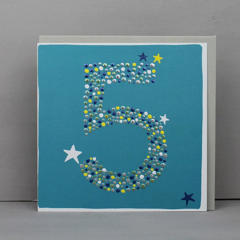 Boy Number 5 Card