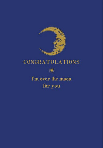 Congratulations Over The Moon Card