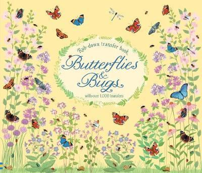 Rub-Down Transfer Book Butterflies and Bugs by Hannah Watson