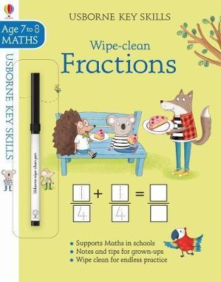 Wipe-Clean Fractions Age 7-8 by Holly Bathie
