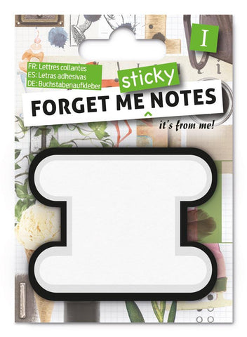 Forget Me Sticky Notes Letter I