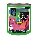 Henri Catisse Artsy Cats 100 Piece Jigsaw Puzzle Tin