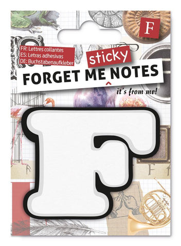 Forget Me Sticky Notes Letter F