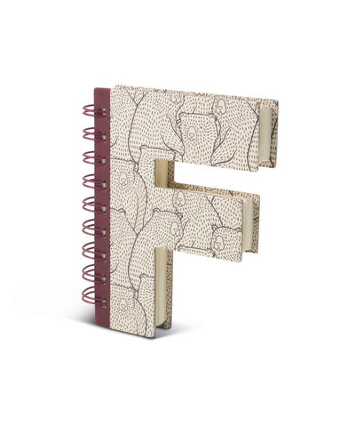Alphabooks Note Books Letter F