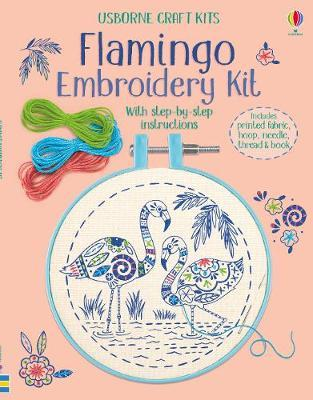 Embroidery Kit: Flamingo by Lara Bryan