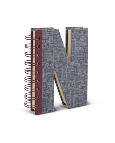 Alphabooks Note Books Letter N
