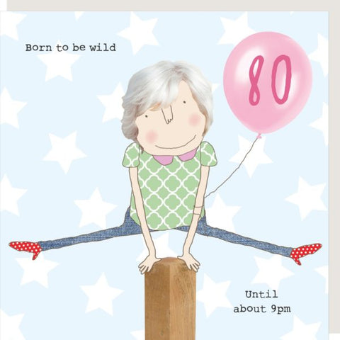 Female 80th Birthday Wild Card