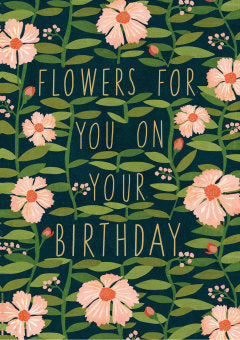 Field of Flowers Birthday Card