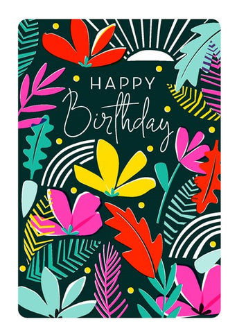 Flowers And Leaves Card