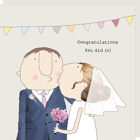 Congratulations Rosie Wedding Card