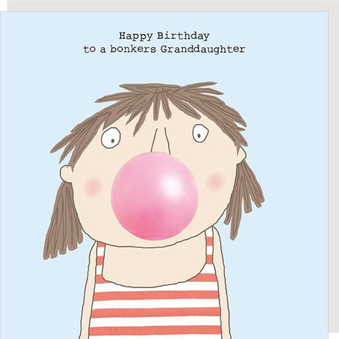 Rosie Granddaughter Birthday Card