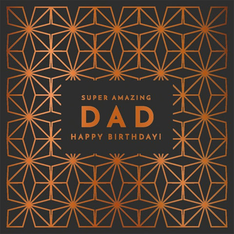 Geometric Amazing Dad Birthday Card