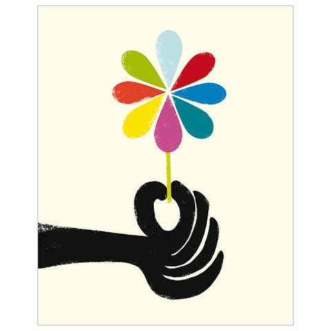 Hand Holding Flower Card