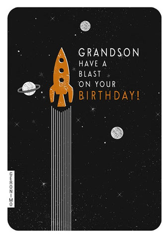 Have A Blast Grandson Card