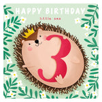 Hedgehog 3Yrs Card