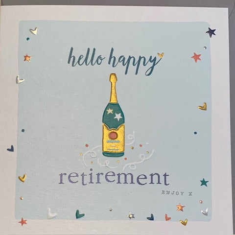 Hello Happy Retirement Card