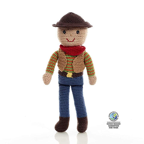 Large Cowboy Crochet Toy