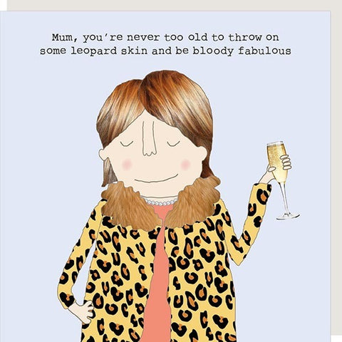Leopard Skin Mum Birthday Card