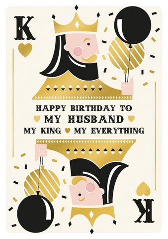 My Husband My King Birthday Card