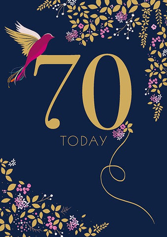 Navy 70th Birthday Card