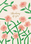 Pink Peonies Thinking of You Card