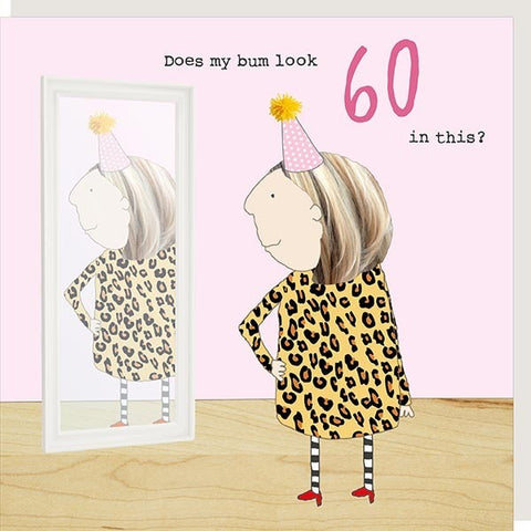 Girl 60 Bum Card by Rosie