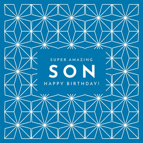 Super Amazing Son Birthday Card