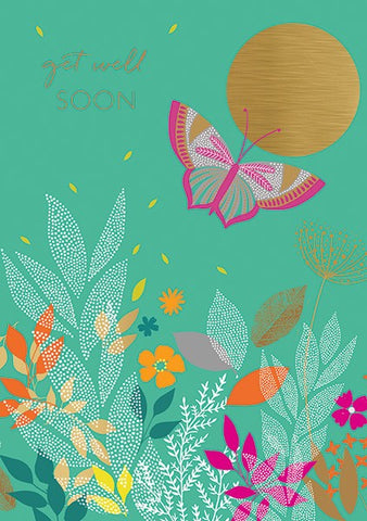 Sara Miller Get Well Butterfly Card