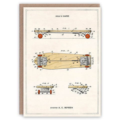 Skateboard Patent Card