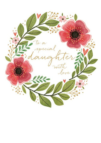 To a Special Daughter Poppies Card
