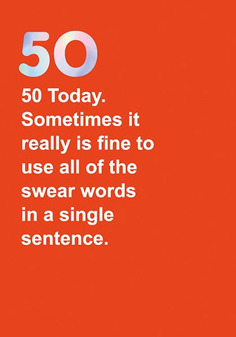 Swear Words 50 Card
