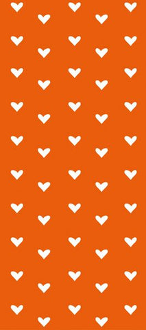 Orange/Hearts Tissue