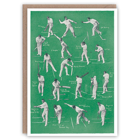 Cricket: Batting And Bowling Card