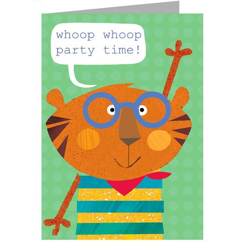 Tiger Party Time Card