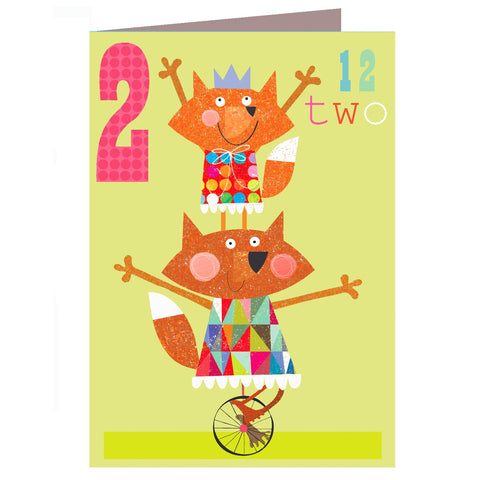 Two Foxes Age Card