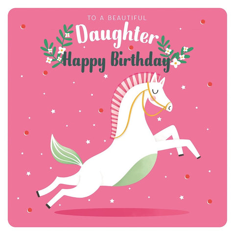 Unicorn Daughter Birthday Card