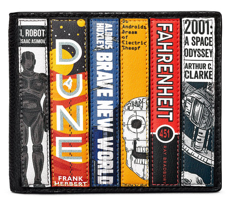 Black Sci-Fi Two Fold Wallet