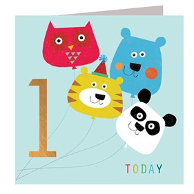Animal Balloons 1 Today Card by Kali Stileman