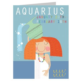 Star Sign Card - Aquarius by Kali Stileman
