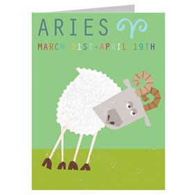 Star Sign Card - Aries by Kali Stileman