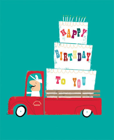 Baker's Van Birthday Card