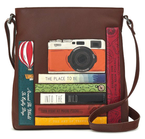 Brown Travel Bookworm Cross Body Bag
