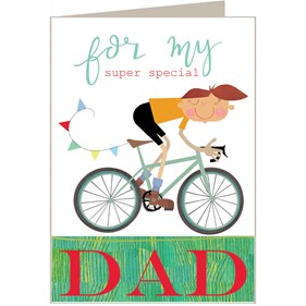 Super Special Dad Card by Kali Stileman