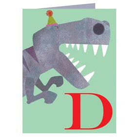 D for Dinosaur Card by Kali Stileman