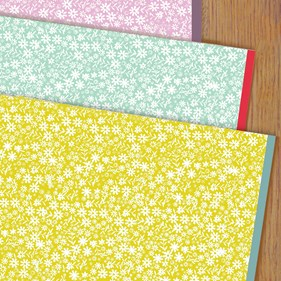 Mustard Ditzy Wrapping Paper