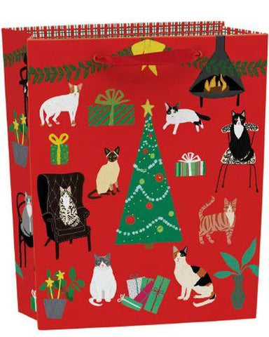 Fireside Cats Large Gift Bag