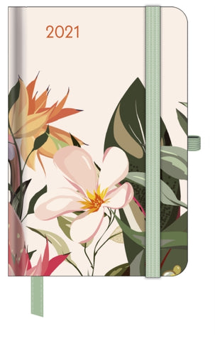 2021 Floral Small GreenLine Diary
