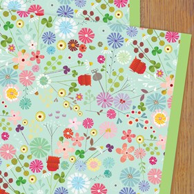 Floral Wrapping Paper by Kali Stileman
