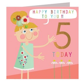 Flower Girl 5 Today Card